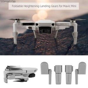 Image 1 - Collapsible Landing Gear Leg for Mavic Mini Skid Heightened Tripod Damping Stabilizers Leg for DJI Mavic Mini Accessories