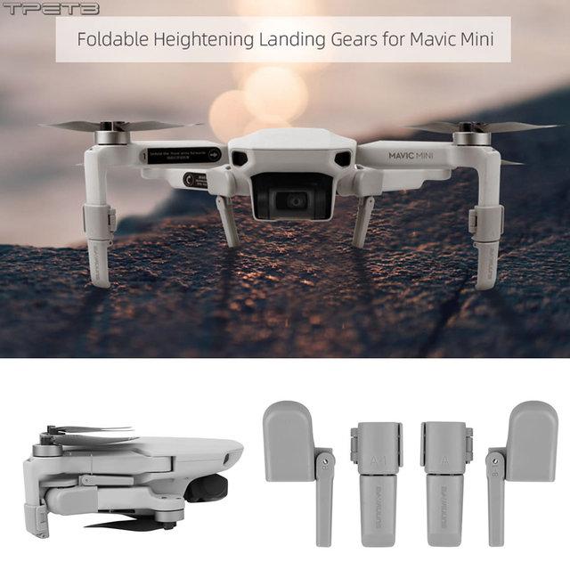 Collapsible Landing Gear Leg for Mavic Mini Skid Heightened Tripod Damping Stabilizers Leg for DJI Mavic Mini Accessories