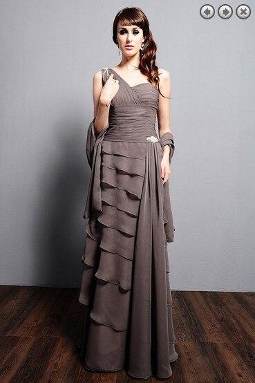 Custom-made Ruffles One Shoulder Vestido De Festa Renda 2016 New Fashion Sexy Party Gown Formal Evening Dress Free Shipping
