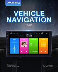 Image 2 - 2din 자동차 라디오 안드로이드 9 유니버설 GPS 네비게이션 블루투스 2.5D 터치 분할 화면 와이파이 자동차 오디오 스테레오 FM USB 자동차 멀티미디어