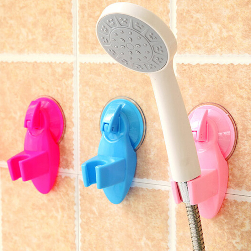 1pc Home Bathroom Vacuum Holder Wall Suction Cup Wall Mount Adjustable Shower Head Holder YL877908