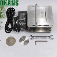 DIY Cutter Cutting machine Model Maker tool for PCB Wood or thin Metal Multifunctional DIY Mini Table Saw Silver