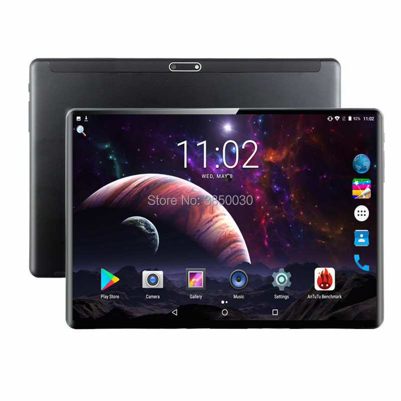 Super Gehärtetem Glas Tabletten 10 zoll Android 9.0 3G 4G LTE Tablet PC 1280*800 6GB RAM 64GB ROM Dual SIM IPS GPS telefon Tabletten