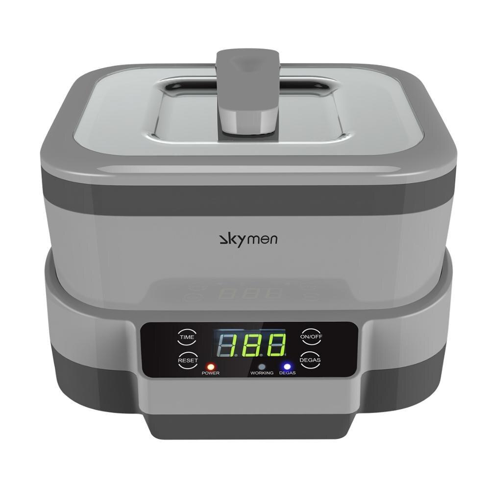 Skymen líquido de limpeza ultrassônico 1.2l 70 w destacável ultra-sônico instrumentos para manicure jóias relógio óculos peças