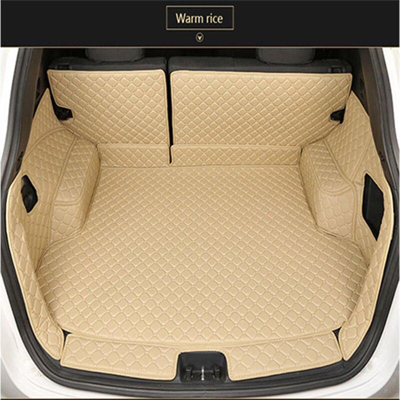 Кожаный Автомобильный Брелок с материалы ствола для Toyota land cruiser Prado 150 5 мест специальный Водонепроницаемый PU багажник автомобиля коврики в с...