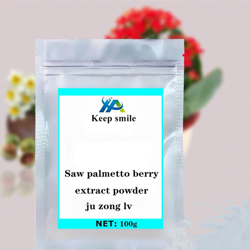 Saw palmetto berry extract powder Viagra for men in body glitter treatment of prostate prevent hair loss supplement anti cancer. image
