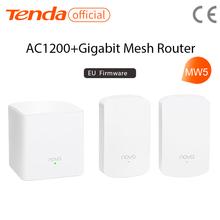 Tenda mw5 ac1200 toda a malha casa sistema wi-fi sem fio com 2.4g/5.0ghz wi-fi roteador sem fio e repetidor, app controle remoto
