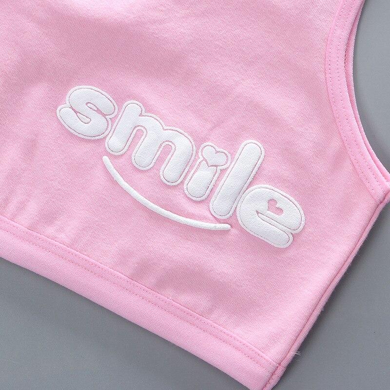 Teen Bra Girl Vest Cotton Spandex Big Girl's Sport 7-14 Years Adolescente Kids Underwear Letter Racerback Training 1 Piece 5