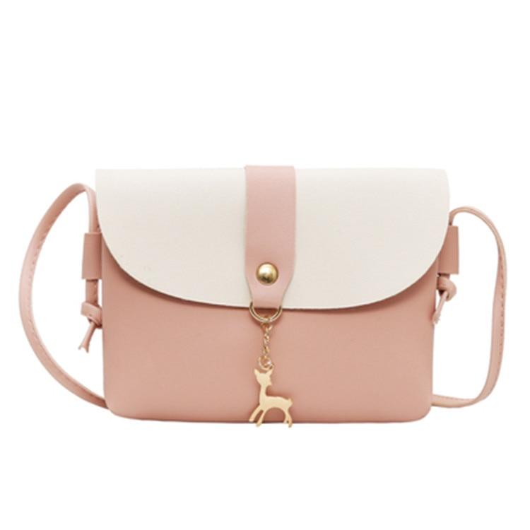 Fashon Bag Women's Handbags Female Purse Leather Small Travel Bags Ladies Vintage Deer Pendant Cross Body Handbag Bolsa Feminina
