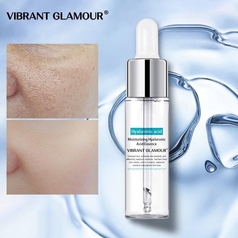 VIBRANT GLAMOUR Hyaluronic Acid Face Serum Cream Shrink Pores Moisturizing Dry Rough Skin Essence Anti Acne Whitening Skin Care