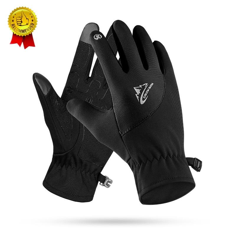 Men Women Winter Running Gloves Ultralight Sports Touchscreen Windproof Thermal Fleece Gloves Jogging Hiking Skiing Pink Black L
