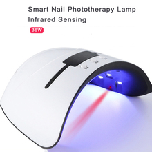цена на Nail lamp 36W quick-drying nail polish phototherapy machine UV smart induction dryer LED nail baking light therapy lamp