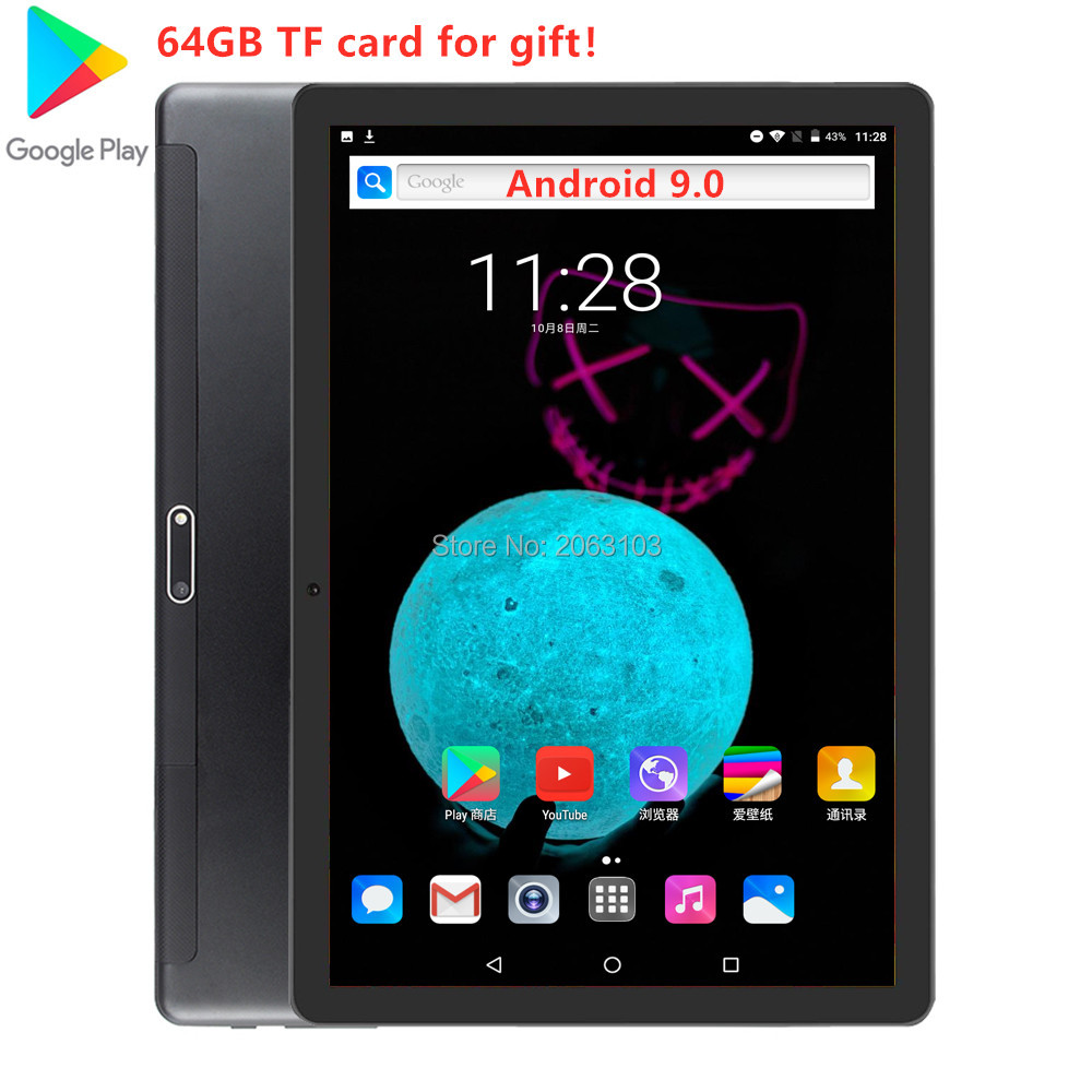 Super Tempered 2.5D Glass 3G 4G FDD LTE 10 Inch Tablet Pc  32GB ROM  IPS Screen WIFI Android 9.0 GPS 10 Inch Tablets