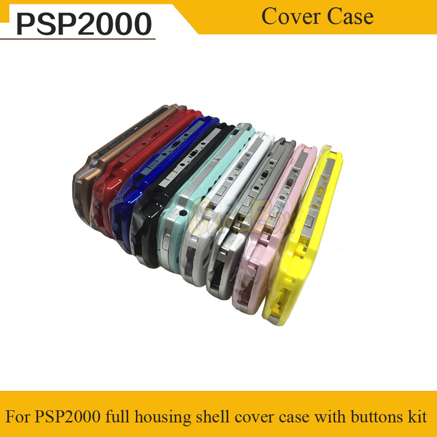 9 Color Full Set Housing Shell for PSP2000 Full Housing Shell Cover Case With Buttons Kit For PSP 2000 With Free Screwdrive