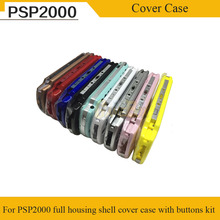 лучшая цена 9 Color Full Set Housing Shell for PSP2000 Full Housing Shell Cover Case With Buttons Kit For PSP 2000 With Free Screwdrive