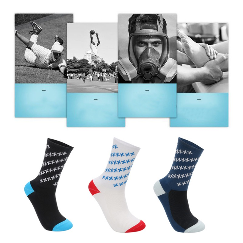 Купить с кэшбэком DH Sport Professional Cycling Socks Men Women Outdoor Road Bicycle Socks Brand Running Compression Sport Socks