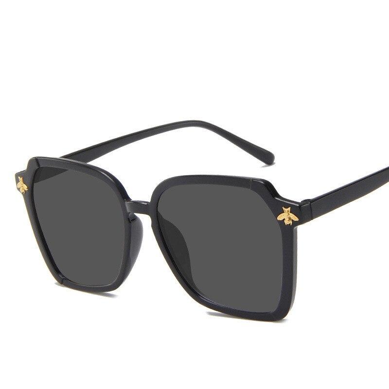 Fashion Vintage Women Sunglasses Brand Designer Plastic Retro Bee Polygon Sunglass Gradient Leopard Female Sun Glasses UV400
