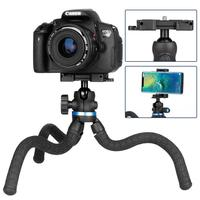 Kuulee Professional Tripod Stand Flexible Octopus for DSLR SLR Compact Digital Cameras Universal Multi function Tripod for phone