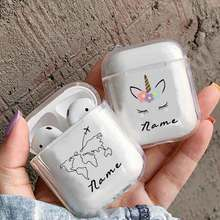 Trip Soft Earphone Case For Apple Airpods Protective Cover DIY Customized World Map Clear Accessories