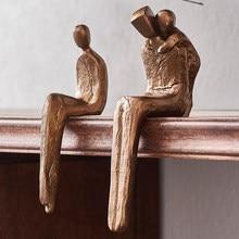 Modern Resin Family Figurines Home Decoration Accessories Souvenir Statue Creative Bookshelf Office Desk Decor Birthday Gifts