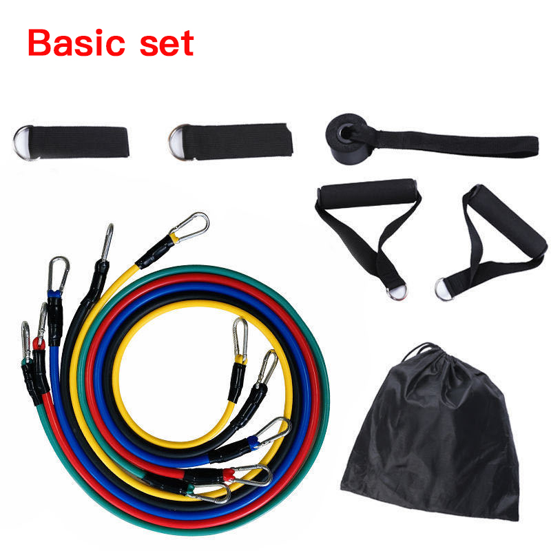 Resistance Bands Set Expander Yoga Exercise Fitness Rubber Tubes Band Stretch Training Home Gyms Workout Elastic Pull Rope