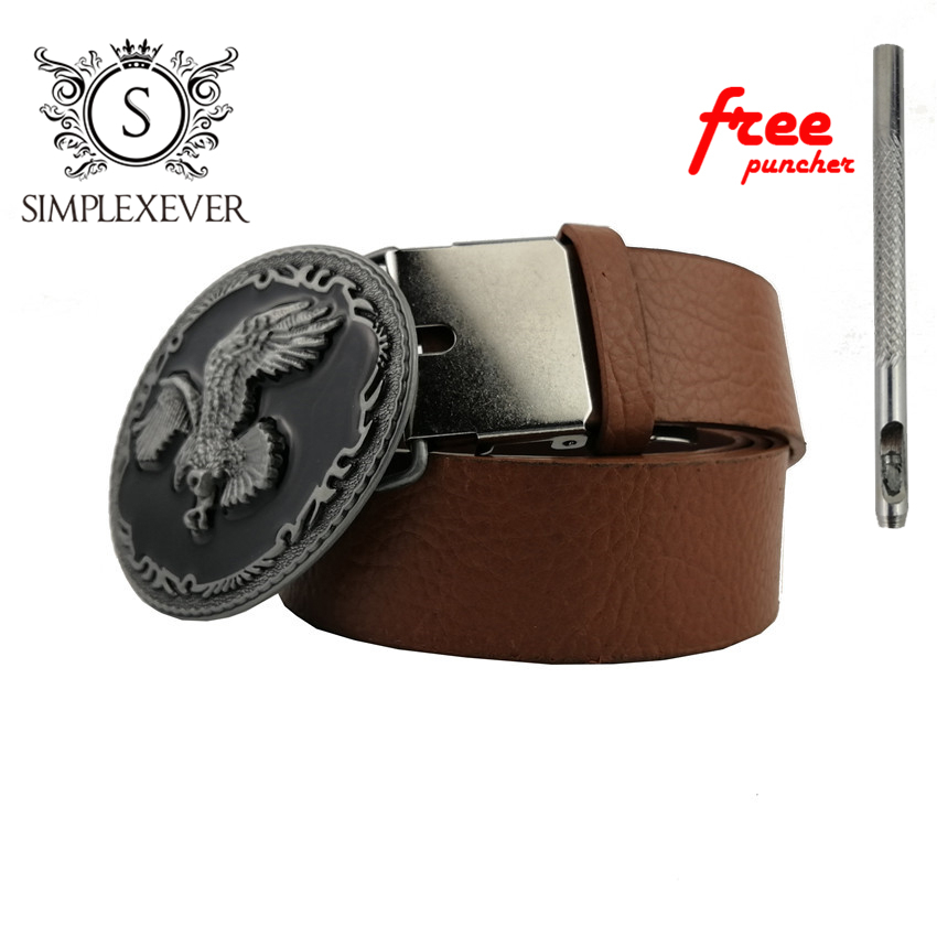 Cool 3D Silver Eagle Cowboy Belt Buckle For Oval Metal Men Buckles Belt Accessories Fit 4cm Wide Belt
