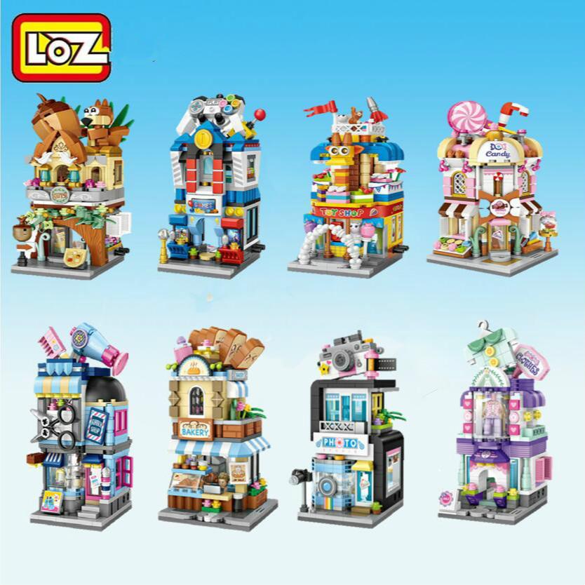 LOZ Mini Blocks City View Scene Coffee Shop Retail Store Architectures Models & Building Quiz Christmas Toy for Children