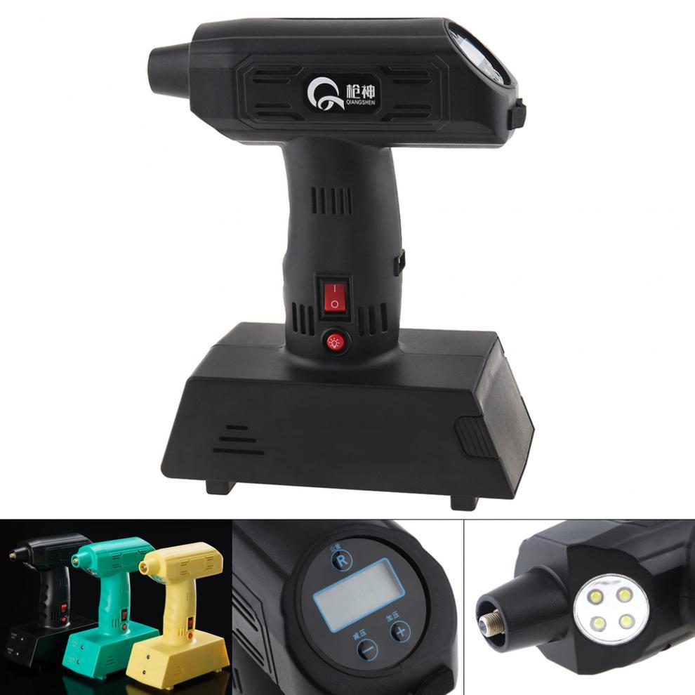 12V 25L/Min Portable sans fil double usage affichage numérique pneu électrique pompe gonflable soutien USB Charge avec lumière LED