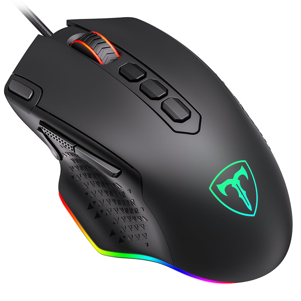 PICTEK PC257 Gaming Mouse Wired 12000 DPI Ergonomic Mouse USB With RGB Backlit 10 Programmable Buttons For Computer Gamer Mice PK Razer Gaming Mouse (8)