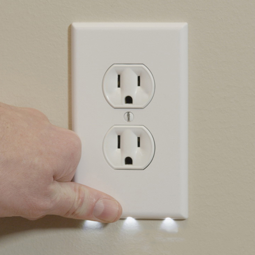 Durable Night Light Duplex High-quality Convenient Outlet Cover Wall Plate With Led Night Lights Ambient Light Sensor