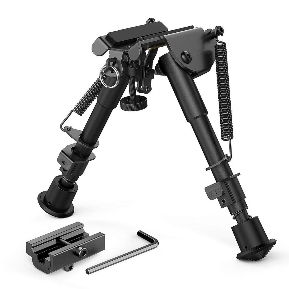 6-9Inch Compact Lente Terugkeer Sniper Hunting Rifle Bipod + Picatinny Rail Mount Voor Grip Shooter Mount