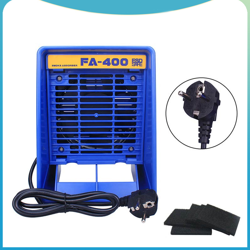 220V 110V FA-400 Solder iron Smoke Absorber ESD Fume Extractor Smoking Instrument with 5pcs free Activated Carbon Filter Sponge