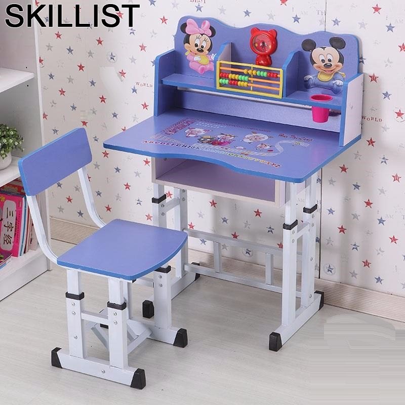 Mesinha Desk De Estudo Avec Chaise Mesa Y Silla Infantil Children And Chair Adjustable Kinder For Bureau Enfant Study Kids Table