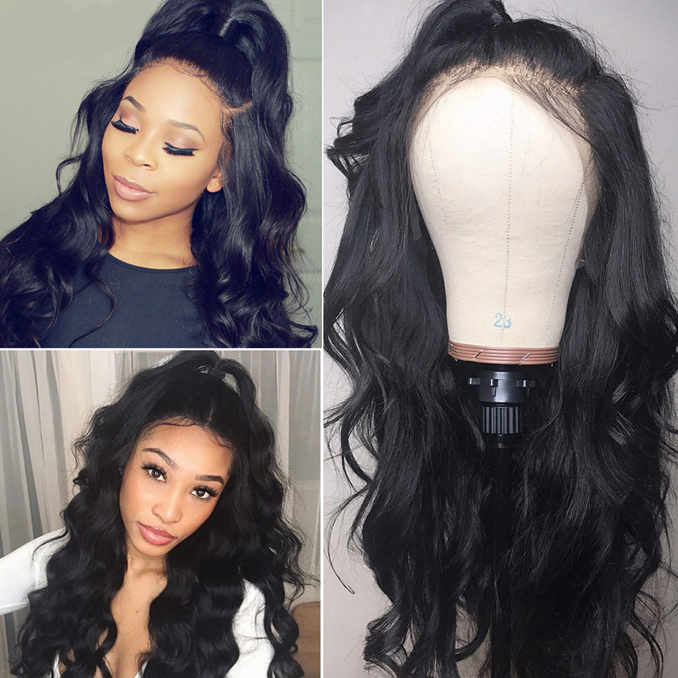 Haever 13x4 Body Wave Lace Front Human Hair Wigs Pre Plucked With Baby Hair Brazilian Body Wave Lace Front Wig For Black Women