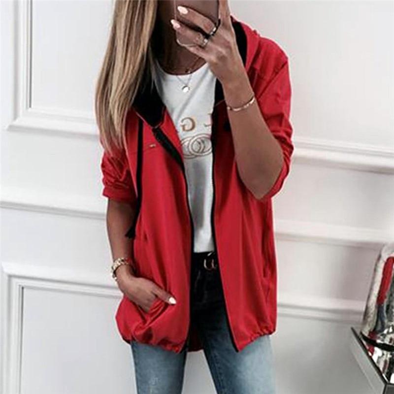 Fashion Women 2019   basic   Hoodies color Printed Long Sleeve Brand leisure elastic waist zipper Sweatshirt for women clothing