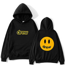 Fashion Hoodie Men Justin Bieber The Drew House Smile Face Print Women Hoodies Sweatshirts Hip Hop Pullover Winter Fleece