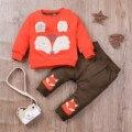 В мультипликационном стиле с принтом (лиса) для маленьких девочек, комплект одежды для мальчиков, зимняя одежда для детей ясельного возраст...