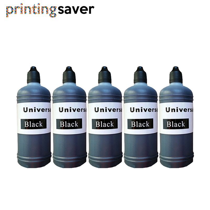 5xBlack 100ml Universal Compatible Refill Dye Ink Kit Replacement For Brother Canon Dell Epson HP Lexmark Printer Ink Ciss Tank