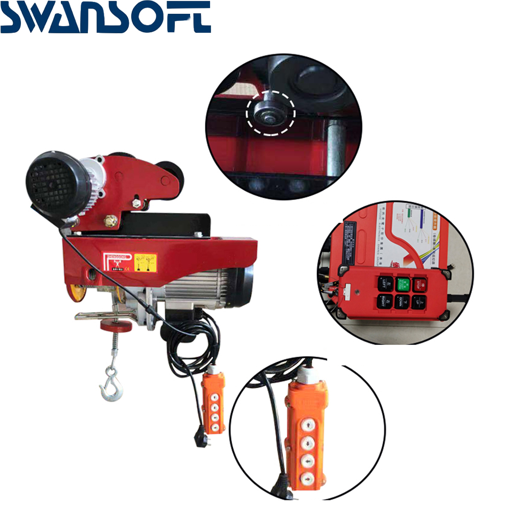 Electric Hoist Wholesale Mini Electric Hoist Wire Rope Electric Hoist Household 220V Small Crane Small Winch