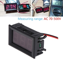 AC 70-500V Digital Voltmeter 0.56 inch Red LED 2 Wire Volt Voltage Test Meter ac 70v to 400v red led digital panel voltage meter voltmeter black