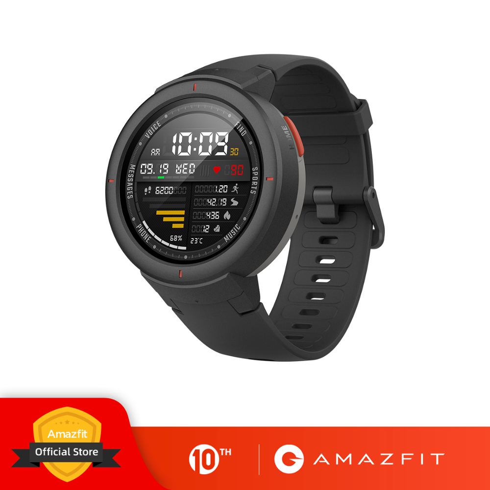 Amazfit Smartwatch GPS Push-Heart-Rate-Monitor Call-Answer Bluetooth Global-Version Verge Sport