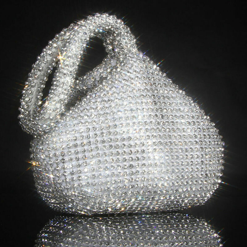 2020 HOT  Soft Women Evening Bags Diamond Rhinestones Clutches Silver Black Gold Crystal Wedding Party Handbags Purse