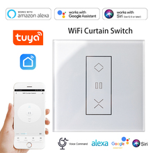 WiFi Smart Curtain Blinds Switch Roller Shutter Motor Control Module Tuya App Remote Control Timer, Works with Alexa Google Home