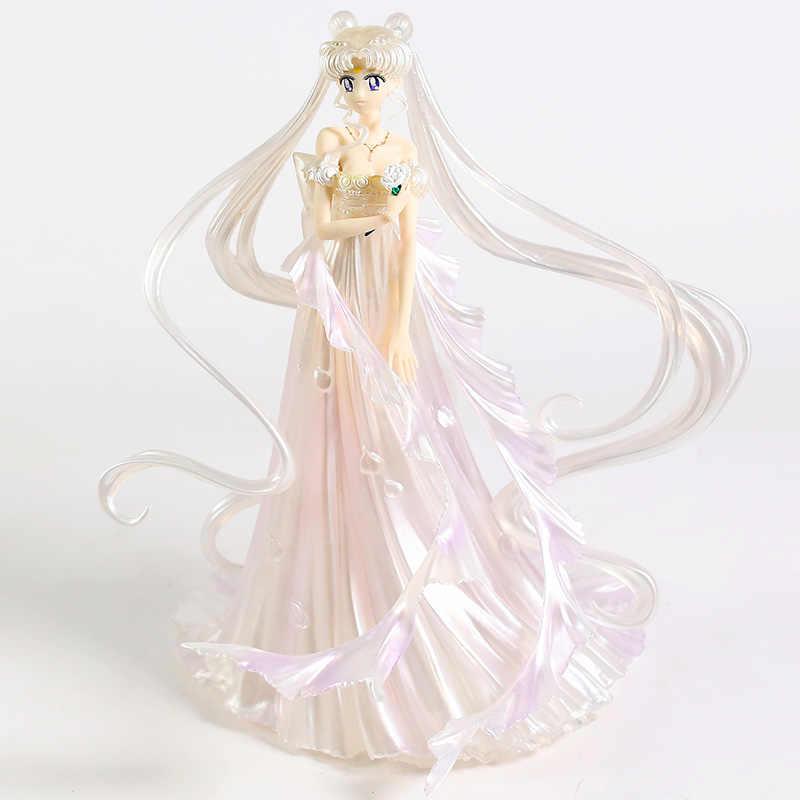 Anime Sailor Moon Usagi Tsukino Wedding Dress Ver PVC Figure New No Box White