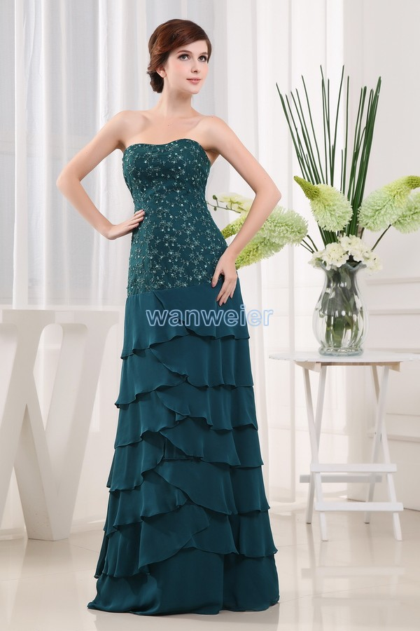 Free Shipping New Style 2016 Brides Maid Dresses Maxi Dresses Long Green Lace Chiffon Mother Of The Bride Dress And Jacket