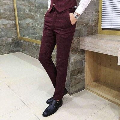 2019 printemps nouveau hommes britannique plaid pantalon décontracté boutique propriétaire vent style japonais Hong Kong original petits pieds pantalon décontracté