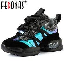 FEDONAS/Новинка; женские туфли из натуральной кожи на плоской подошве с принтом; повседневная женская обувь; сезон весна; модные удобные кроссовки