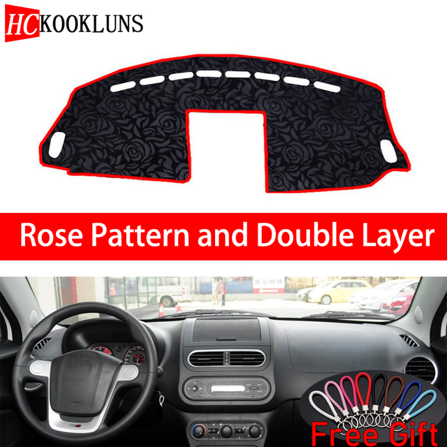 Rose Pattern For MG MG3 3SW 2011 2012 2013-2016 Dashboard Cover Car Stickers Car Decoration Car Accessories Interior Car Decals