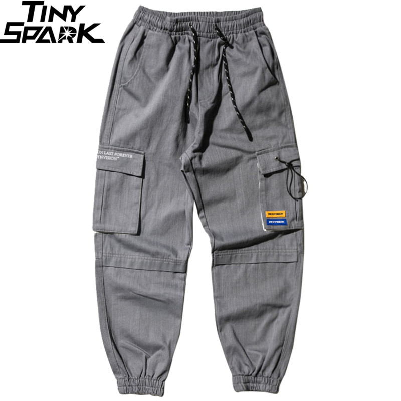 Men Joggers Streetwear Cargo Pants Hip Hip Harajuku Harem Pants  2019 Autumn Casual Tactical Pants Pockets Track Trousers CottonCargo  Pants