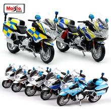 Модель полицейского мотоцикла Maisto 1:18 BMW R 1200 RT, литые игрушки, новая коробка, Бесплатная коллекция для дома, детские игрушки, игрушка для взро...